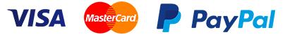 Visa, Master Card, PayPal
