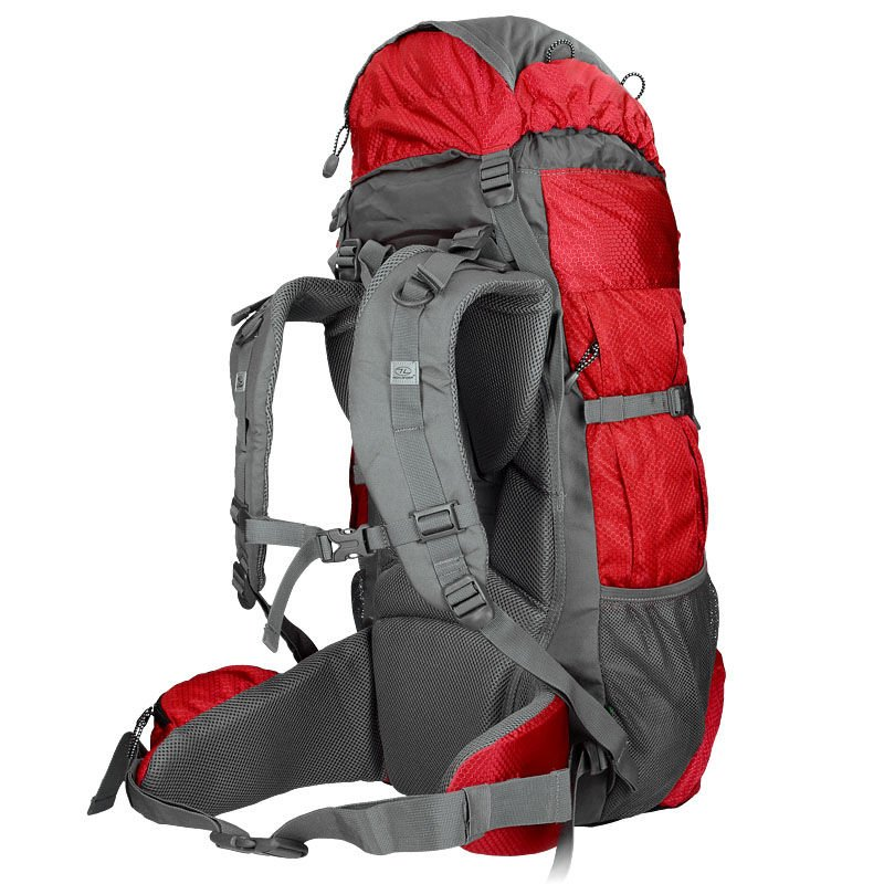 Highlander Tourist Backpack 65L Discovery Red