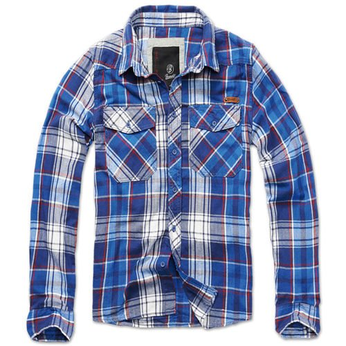 Brandit Check Shirt Blue