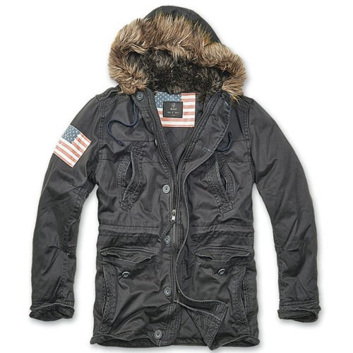 Brandit Explorer Stars & Stripes Winter Jacket Black