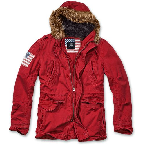 Brandit Explorer Stars & Stripes Winter Jacket Red