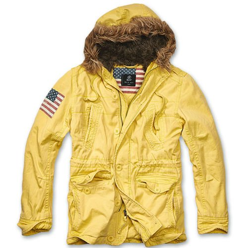 Brandit Explorer Stars & Stripes Winter Jacket Yellow