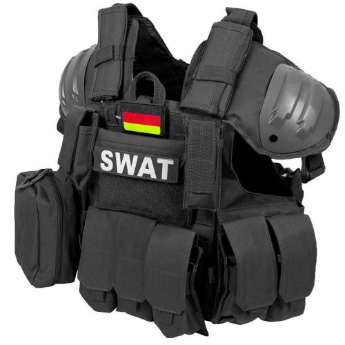 Max Fuchs Modular Tactical Vest SWAT Black