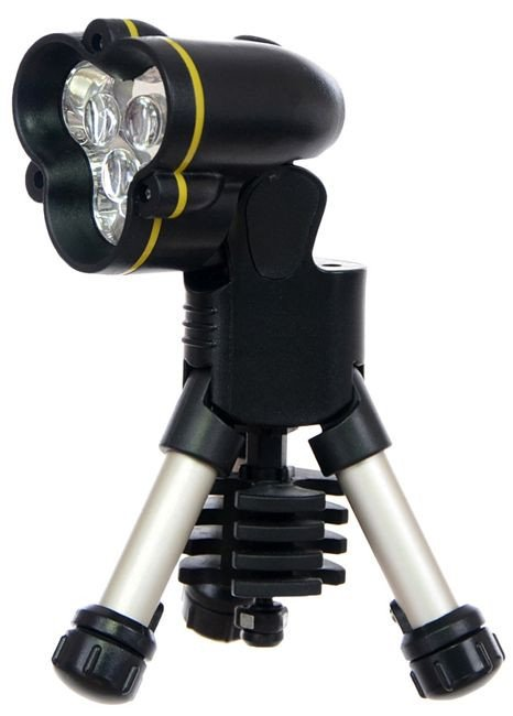 Max Fuchs Tripod LED Flashlight Black