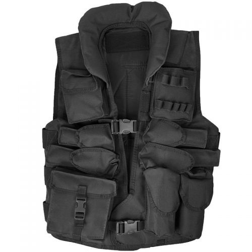 Max Fuchs US Tactical Vest with Collar Black