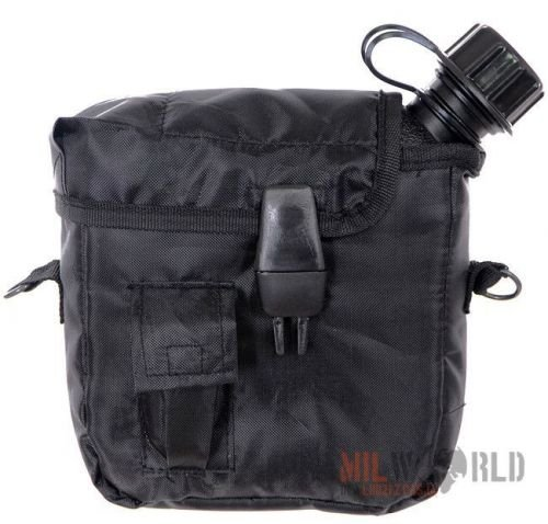 Mil-Tec Canteen 2QT With Cover And Strap Black