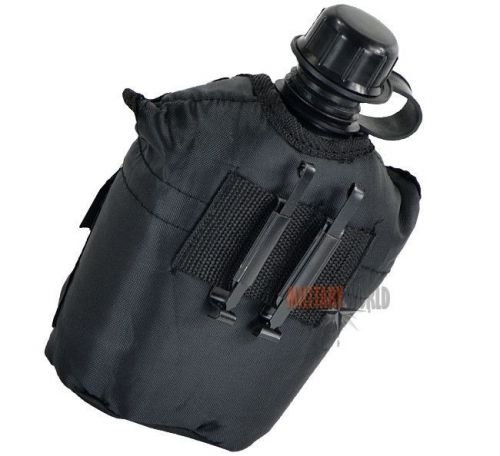 Mil-Tec Canteen with a Cover LC2 Black