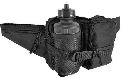Mil-Tec Fanny Pack with Bottle Black