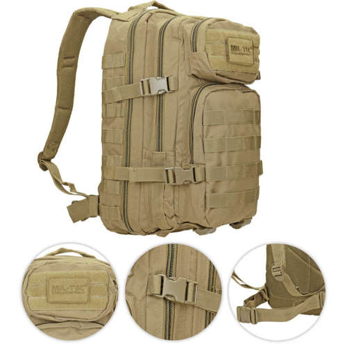 Mil-Tec MOLLE Tactical Backpack US Assault Small Coyote
