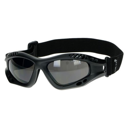 Mil-Tec Protective Goggle Commando Air Pro Tinted Black