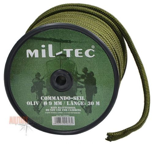 Mil-Tec Universal Rope Survival 30m/9mm Olive [a roll]