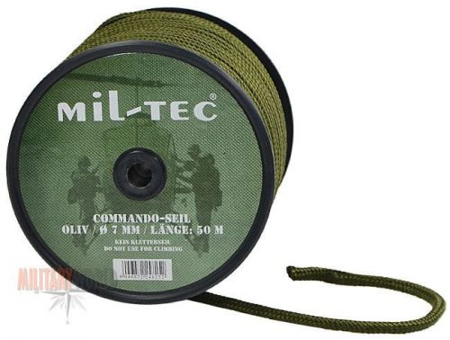 Mil-Tec Universal Rope Survival 50m/7mm Olive [a roll]