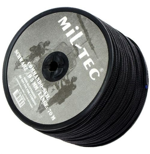Mil-Tec Universal Rope Survival 70m/5mm Black  [a roll]