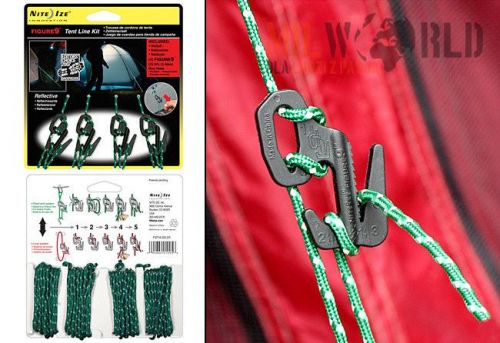 Nite-Ize Carabiners 4 pcs. Figure 9 Tent Line Kit with Cords