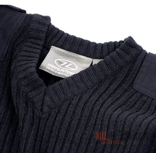 Highlander Sweter V-Neck Navy