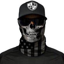 Blackout American Flag Skull