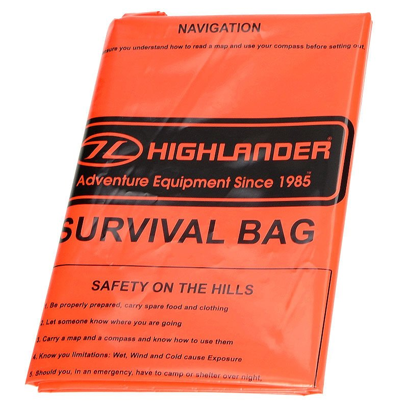 HIGHLANDER cs037 survie d/'urgence Sac de couchage Bivi orange