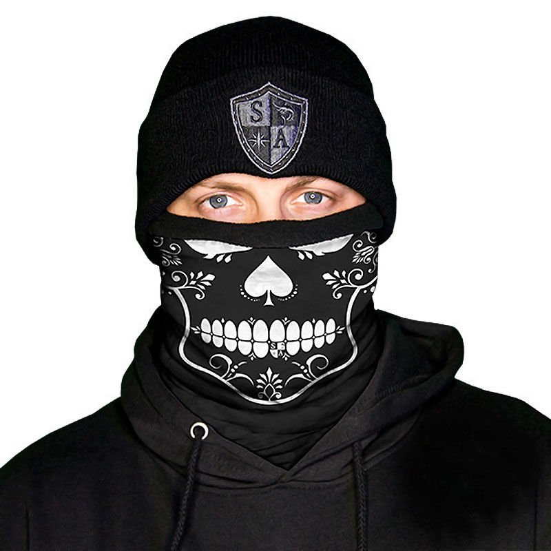 Salt Armour SA Basketball Face Shield Mask Balaclava Neck Gaiter Tubular Bandana