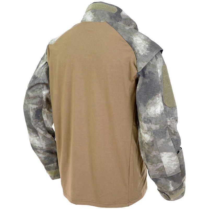 f67a74026fe0 MFH Mens US Tactical Long Sleeve Shirt Pocket for Elbow Protectors ...