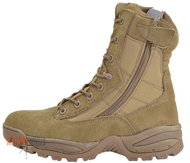 Security Boots Military Mil Tec Lacing 8 About Tan Coyote Two Details Hole Tactical Zip v0Ny8nOmw