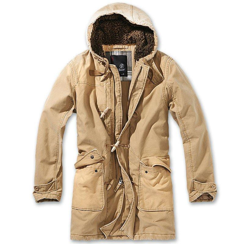 süß billig mehrere farben Weg sparen Details about Brandit 3143.70 Mens Woodson Vintage Parka BW Army Warm Hood  Winter Jacket Camel