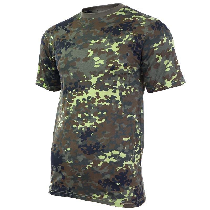 4XL Mil-Tec Homme US Armée T-Shirt Militaire 100/% Coton Flecktarn Camo S