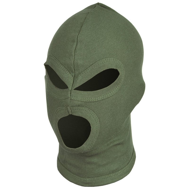 MFH Balaclava 3-Loch Dünn 100% Baumwolle Sturmhaube Maske Skimaske ...