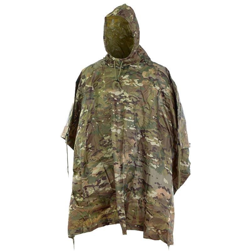 Outdoor Camouflage Regen Poncho Regenmantel Wasserdichte Plane für Camping