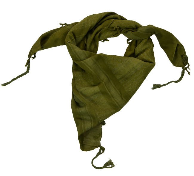 Mil-Tec Military Army Shemagh Scarf Classic Arab Design Keffiyeh White-Blue