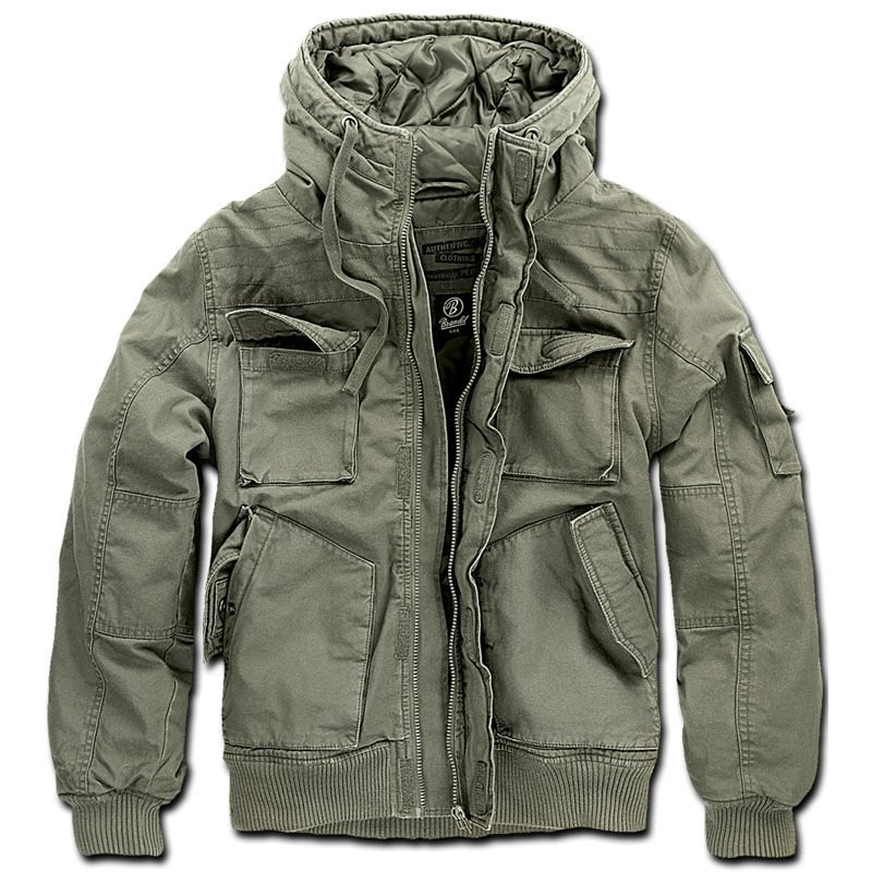 Details about Brandit 3107.1 Mens Bronx Field Jacket Winter Padded Warm Coat with Hood Olive