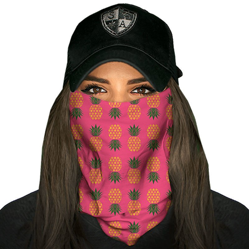 Gesichtsschutzrohr Wärmer Radfahren Laufen Wandern Pink Digi Skull SA Co