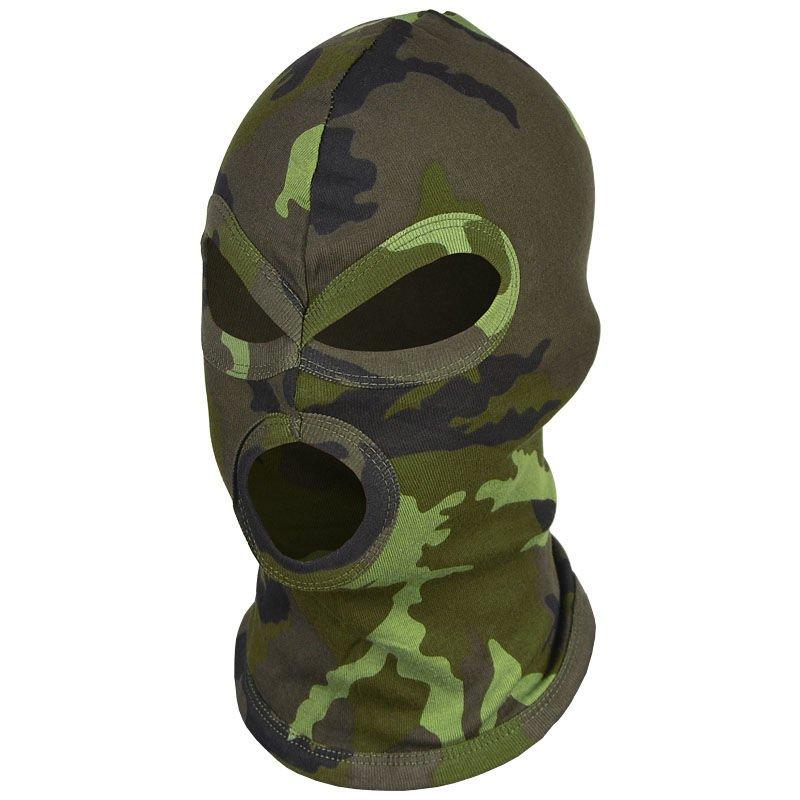 MFH Lightweight 1 Hole Balaclava Under Helmet Ski Mask Hunting Woodland Camo