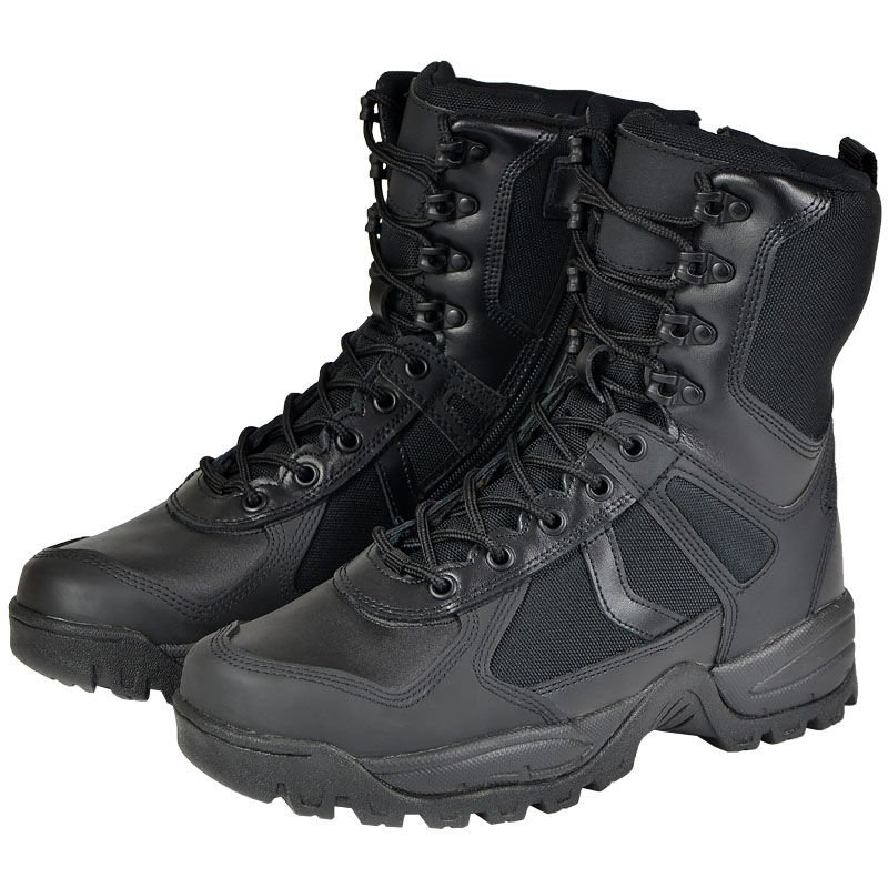 95e5c48e779 Details about Mil-Tec 9 Hole Lacing ONE ZIP Tactical Military Security  PATROL BOOTS Black