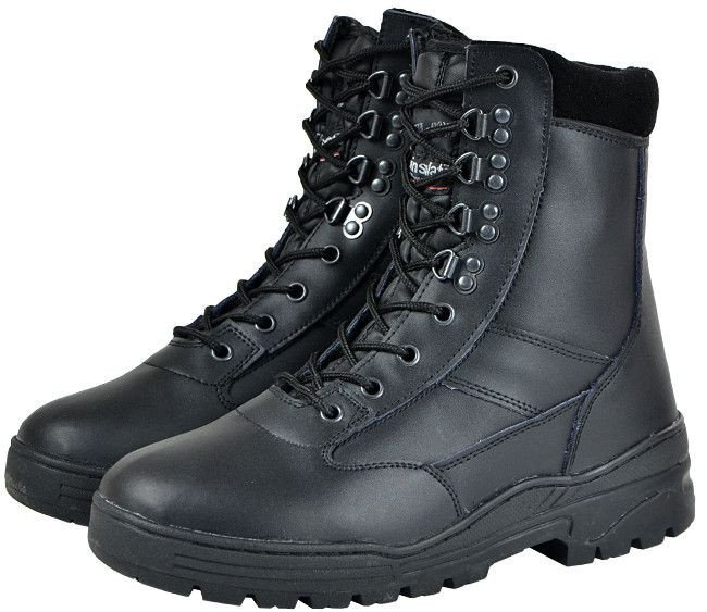 good texture san francisco buying cheap Mil-Com Tactical Boots All Leather Patrol Boots Black