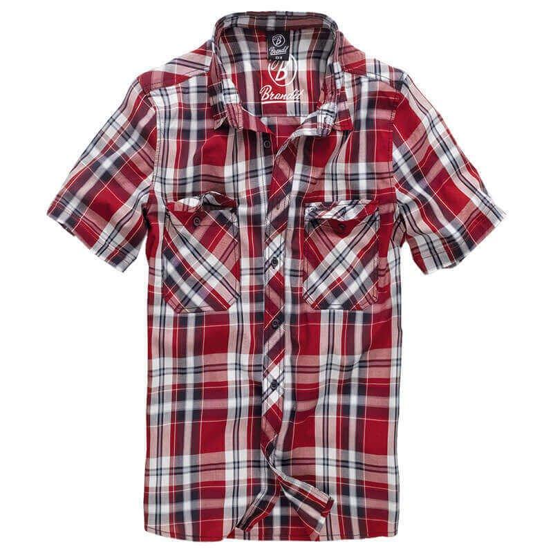 Brandit Hombres Roadstar Camisa Rojo