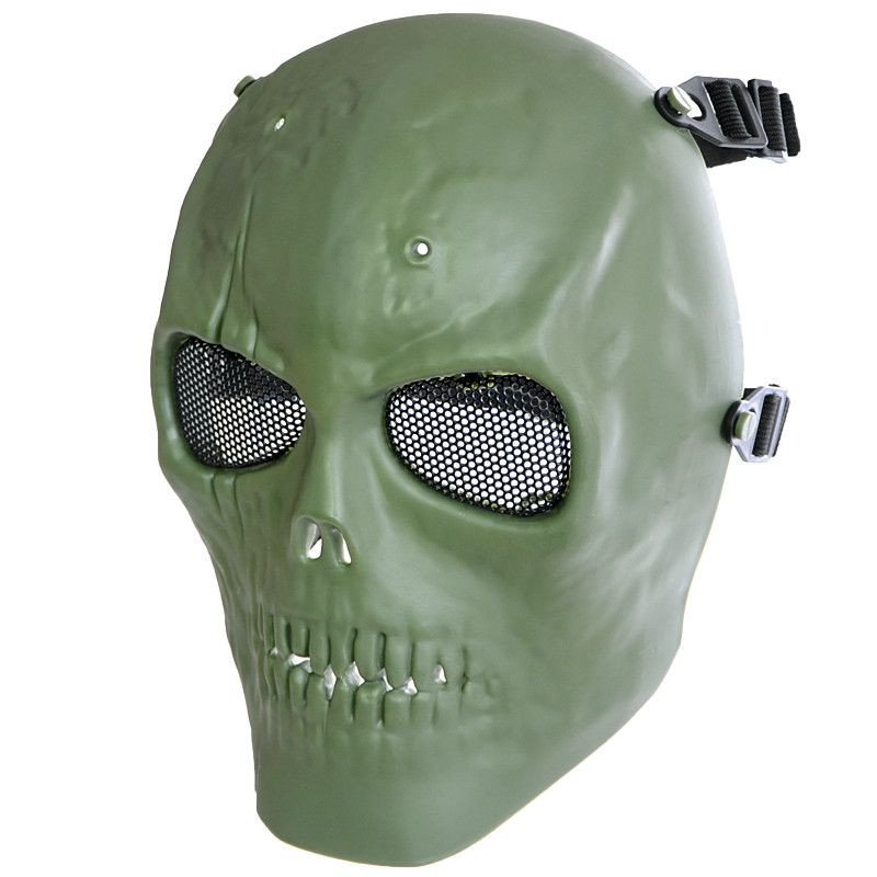 Mfh Skull Full Face Protective Airsoft Paintball Mask Olive 4044633140616 Ebay