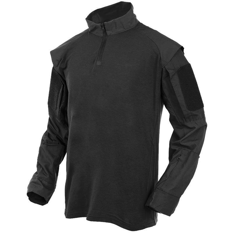 ... MFH US Tactical Shirt with Long Sleeve Black ... de32a7d1741
