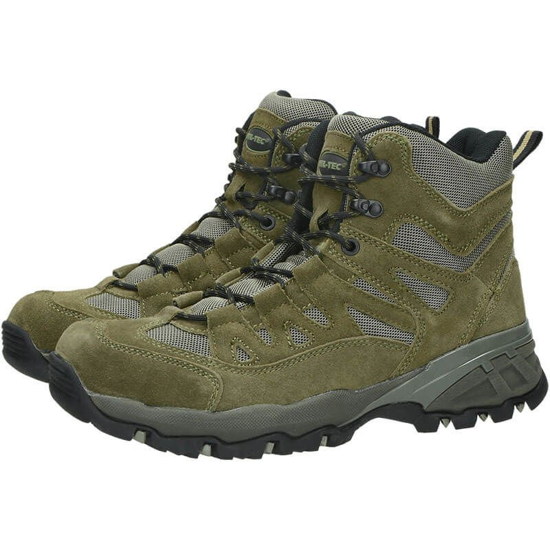 Mil-Tec Mens 5 Hole Lace Up CANVAS SHOES BOOT Olive OD Green