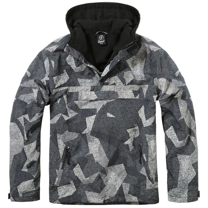 Camo Windbreaker Anorak Jacket