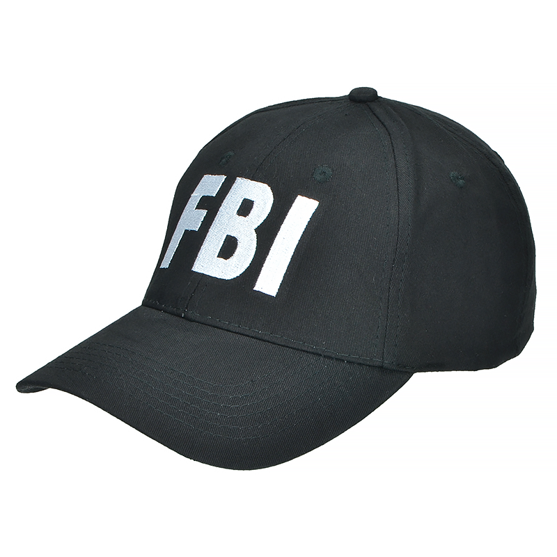 Mil-Tec FBI Black Baseball Tactical Cap for Everyday Use Security ... 1551b2fba81