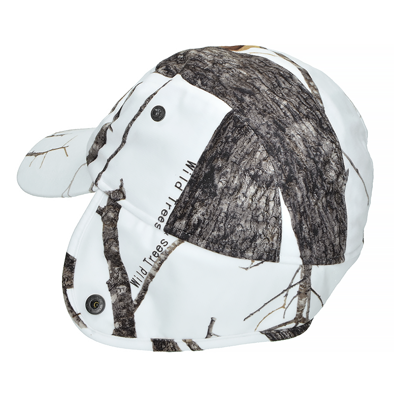 Mil-Tec Waterproof WILD TREES Winter Baseball Cap with Ear Flaps Forest Camo