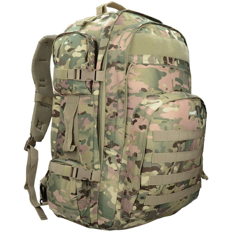Texar Tactical Backpack Military Style Camper 60L Combat MOLLE Black