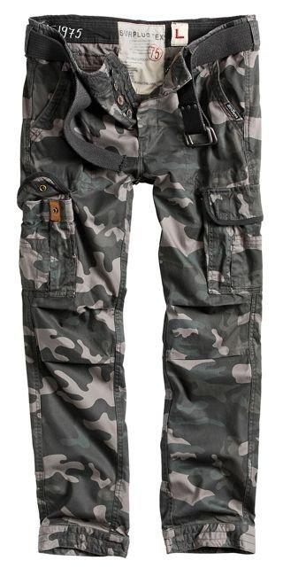 Surplus Premium Pants Slim ARMY CARGO COMBAT Black Camo - eBay