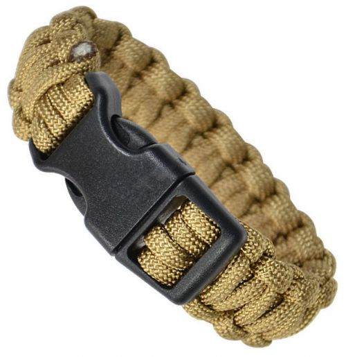 Mil-Tec Bransoleta Paracord 22mm Coyote