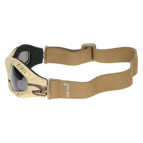 Mil-Tec Protective Goggle Commando Air Pro Tinted Desert