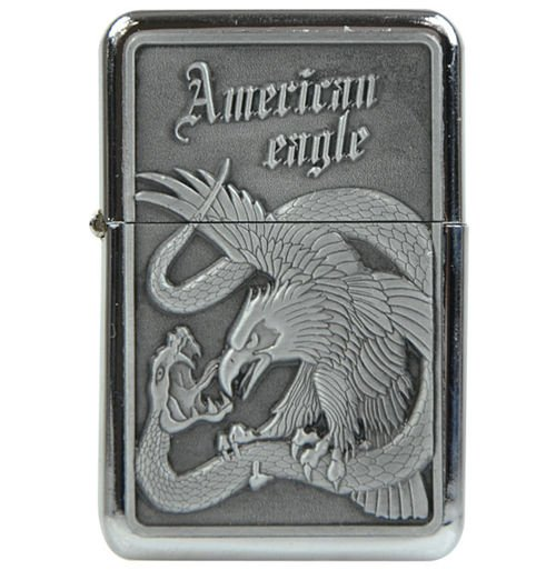 Tristar Petrol Lighter American Eagle & Snake