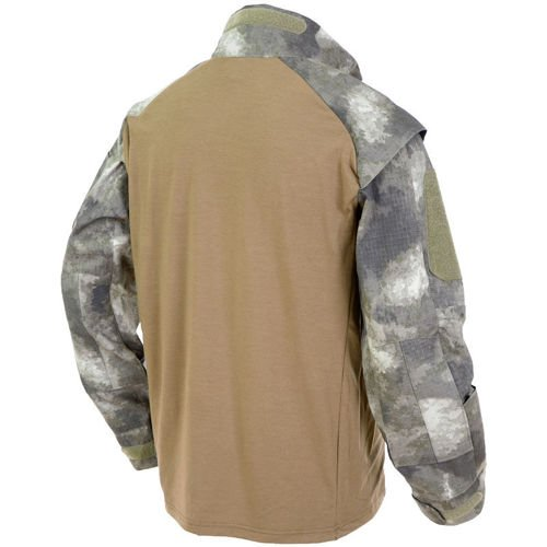 MFH US Tactical Shirt with Long Sleeve HDT Camo