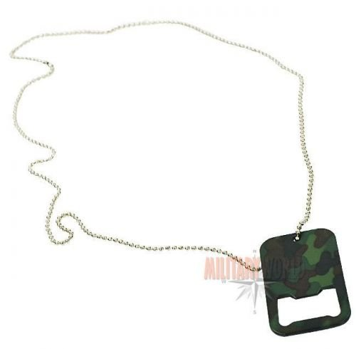 Mil-Tec Bottle Opener Dog Tag Woodland