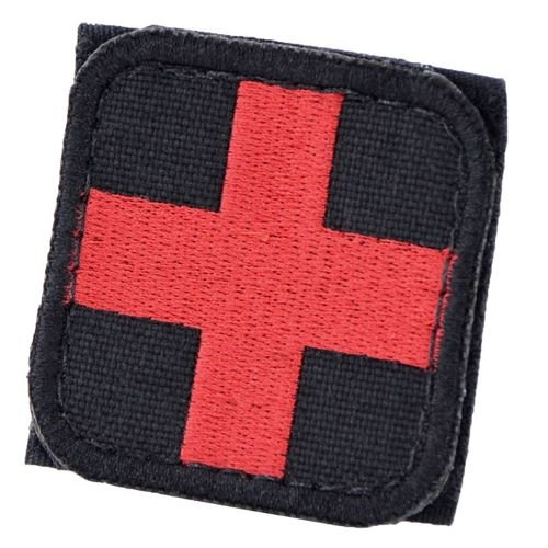 Condor Medical Cross Patch Black