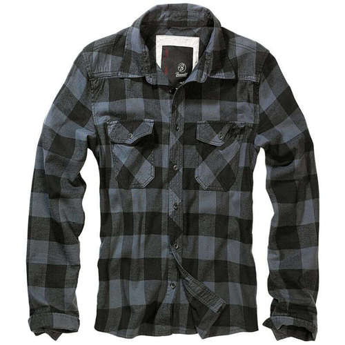 Brandit Check Shirt Black/Grey